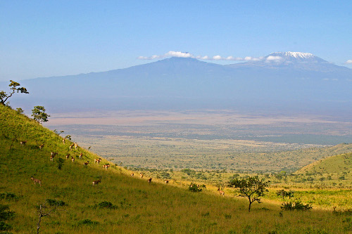 The Chyulu hills looking to mount kilimanjaro