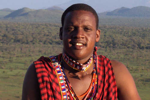Samson Parashina, outstanding Maasai, Head Guide & President Maasai Wilderness Conservation Trust