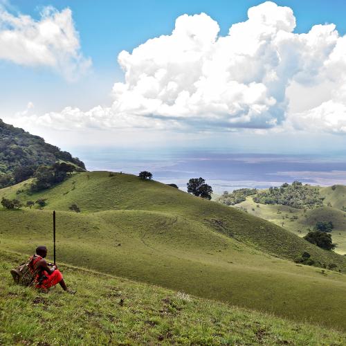 Campi ya Kanzi Guide Pashiet at Chyulu Hills