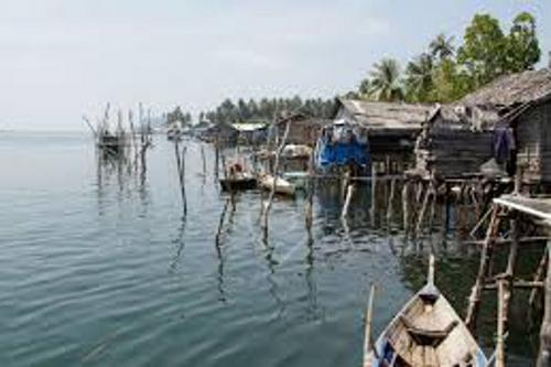 Orang Laut Traditional Community near Nikoi island