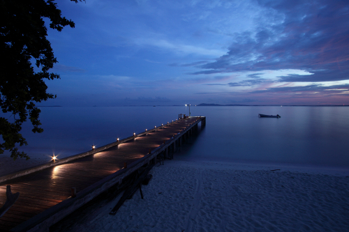 Nikoi Island Jetty at Nighfall