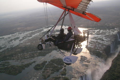one for the 1st ambition: in a microlight over victoria falls, zambia - probably my favourite place on earth