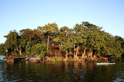 Jicaro Island Ecolodge Approach from Lake Nicaragua