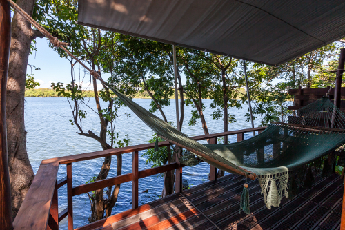 Jicaro Island Ecolodge Casita hammock balcony