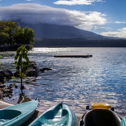 Jicaro Island Ecolodge kayak Lake Nicaragua