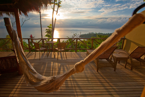 relax and hang out on your deck at lapa rios in costa rica