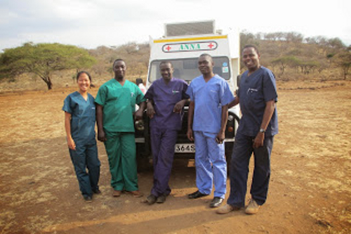 MWCT Kenya donated Ambulance & medical staff