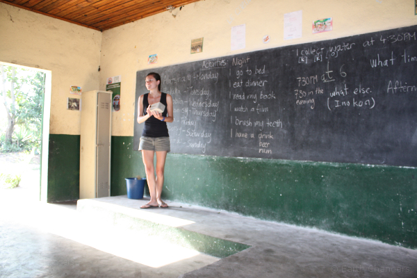 SEED Madagascar volunteer Teaching in st Luce