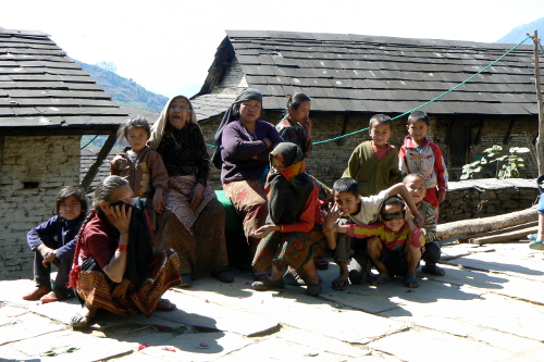 Local Family, Tiger Mountain Pokhara Lodge, Nepal