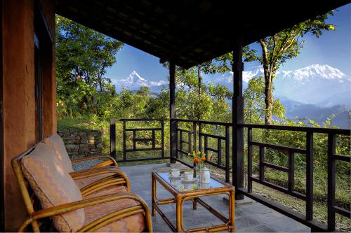 Nepal Tiger Mountain Pokhara Lodge - Verandah View 1
