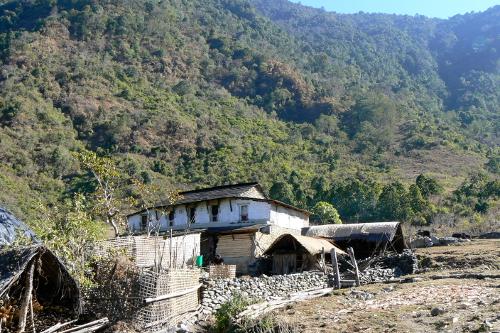 Local area farmstead, Tiger Mountain Pokhara Lodge, Nepal