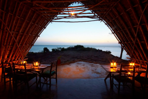 chumbe island coral park Tanzania - banda by candle light