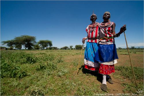 Maasaï village women,Campi ya Kanzi Kenya