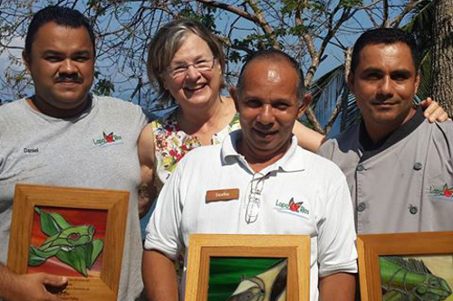 Lapa Rios Costa Rica - co-Founder Karen with local Staff