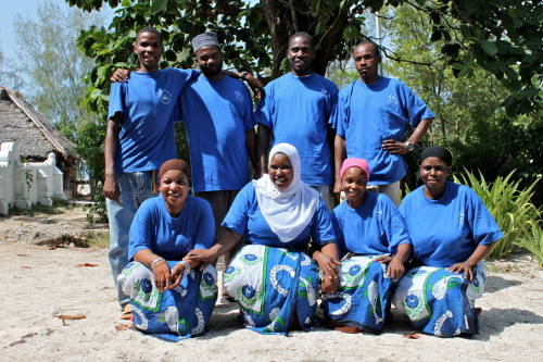 gender equality in housekeeping & maintenance, Chumbe island