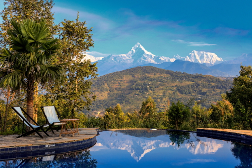 Nepal Tiger Mountain Pokhara Lodge Infinity Pool