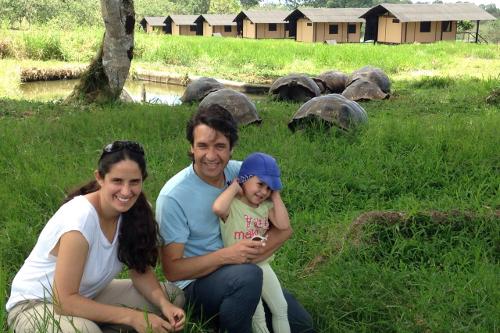 Galapagos Floreana Tropic Giant Tortoise & Family