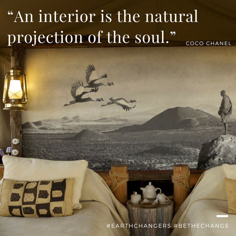 """An interior is the natural projection of the soul"" ~ Coco Chanel"