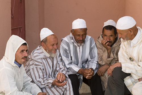 Local men - Education For All - Der Asni opening