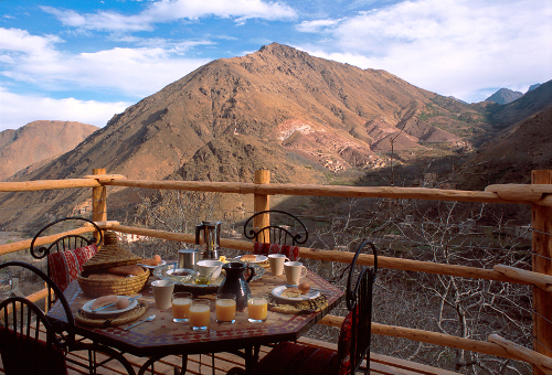 Kasbah du Toubkal view