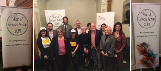 Defra's #YearOfGreenAction Ambassadors - Vicky is 3rd from right