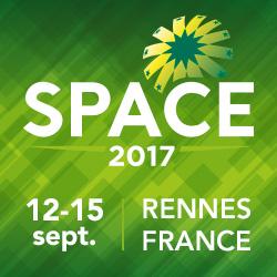 SPACE 2017 12-15 September 2017 Rennes, France Hall 1, F47