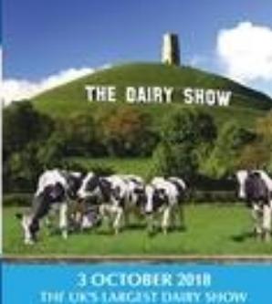 THE DAIRY SHOW    03 October 2018, Bath&West Show Ground Sommerset, United Kingdom    Edmund Rach Pavillion,