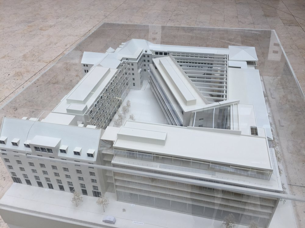 The model of the new LINC campus in Munich