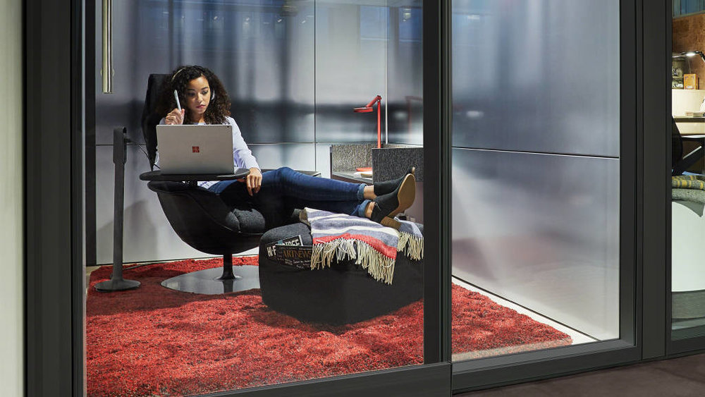 Respite Room:Creative work requires many brain states, including the need to balance active group work with solitude and individual think time.