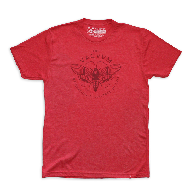 Moth Logomark t-shirt. Design by Brian Steely. Printed by Industry Print Shop.