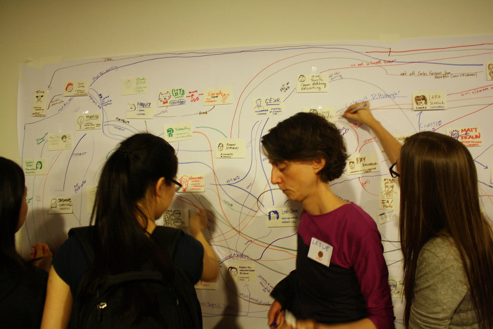 Visual Icebreaker at a conference