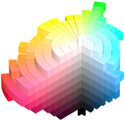 A re-design of Munsell's colour ordering system, which takes into account the inability of all the colours we perceive to fit into one smooth sphere.