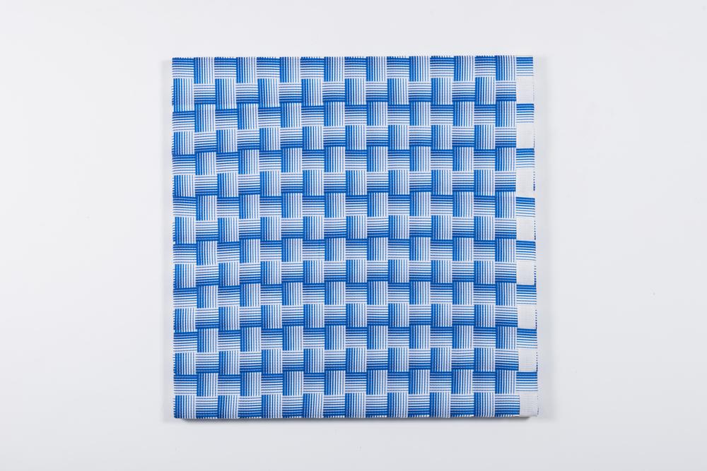 Tramas, 2016, faixas de nylon, 100 x 100 cm