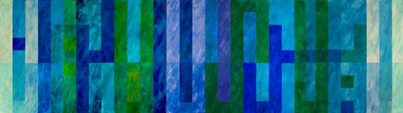 Kamal Boullata, La Yura Illa al-Alwan (Nothing is seen except Colors-Ibn Hazm al- Andalusi)(quadriptych), Acrylic on canvas, 2009, 100 x 356 cm