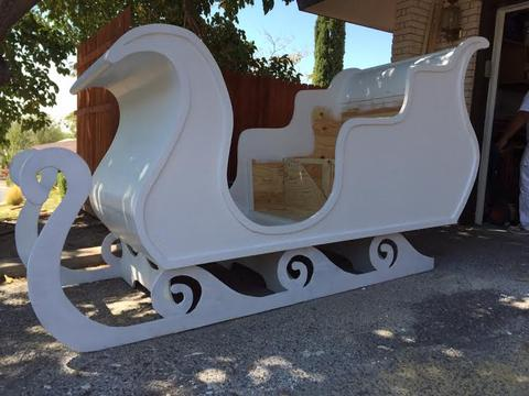 The sleigh before it was finished and painted.