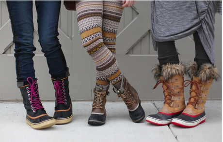 Boots - Sure, you need to pack a pair or two of special occasion boots ie boots with heels for ladies that would pair well for a party look, but you also need boots that can handle snow. Sorel boots are a fan favorite for stylish, comfortable and warm boots that can handle winter's elements.