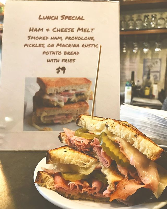What's for lunch? This Ham & Cheese Melt, that's what! 😍 Available now! 🍖🧀🥪 #royaldrummer #drumbeat #ballard #lunchbreak