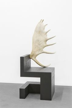Rick Owens Chair, Wood and Moose Antler.jpg