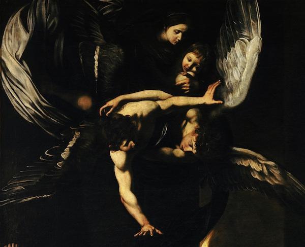 Sette opere di Misericordia Madonna col Bambino e angeli.jpg