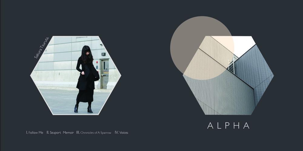 'ALPHA' EP CD Design for Sakura Tsuruta