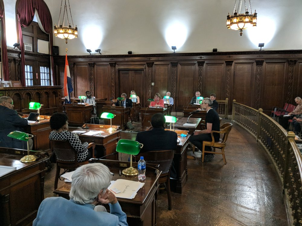 Kevin Lovelady testifies to the City of Albany Common Council on June 18th.