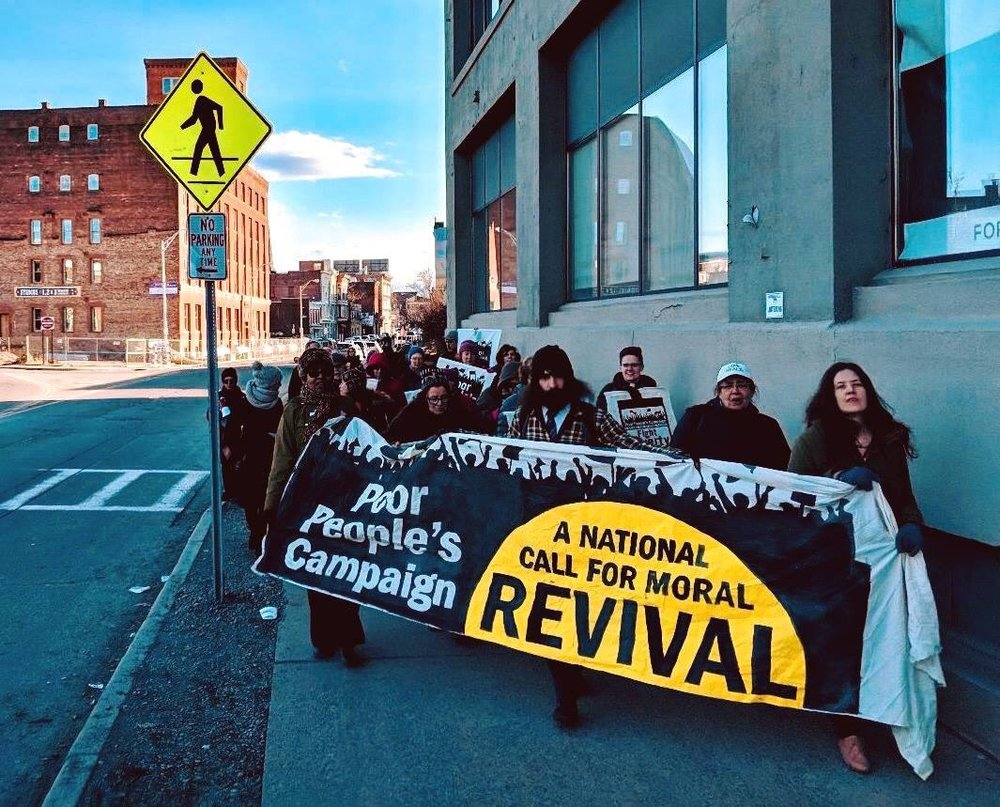 Capital Region Poor People's Campaign marches to Rennselaer County Social Services, March 18, 2019.