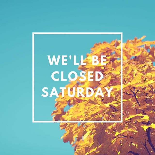 No pop-up window this Saturday! Sorry for the inconvenience. We'll see you next week on October 13th. Thank you for your understanding!