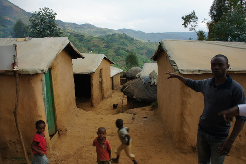 Kiziba Refugee Camp huts