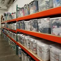 The Lighthouse Charities Warehouse is where we hold all of our food, clothing, hygiene, household goods, and school supplies.  It is here that families are able to come and shop (free of charge) for items they need.  We are also able to fill school supply orders for the CCSD Title 1 schools here. -