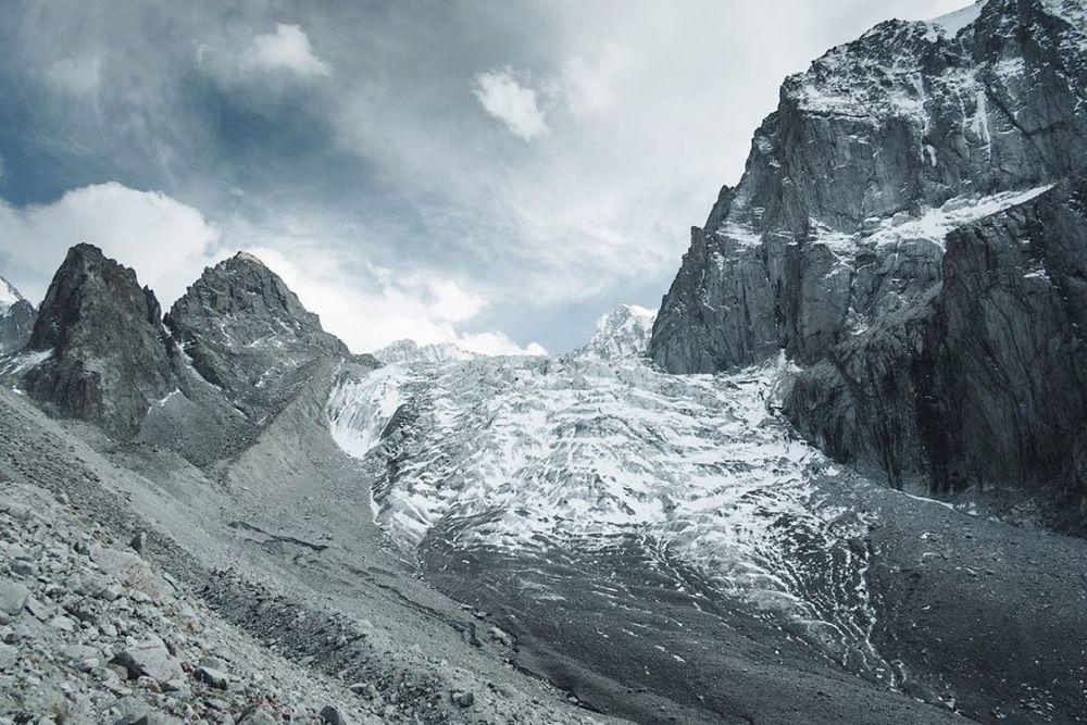 Ak-Sai Ice Glacier Icefall