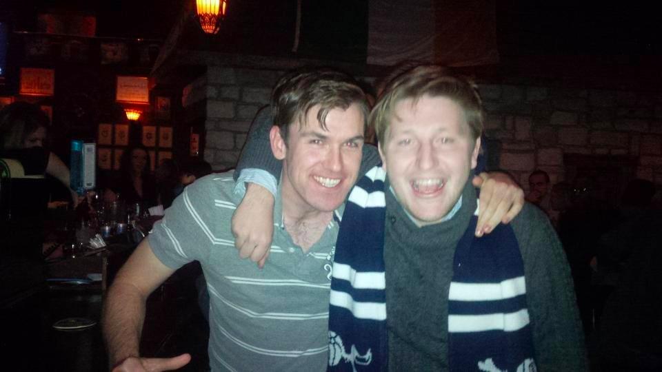 Michael and Patrick, co-founders of Post Pravda Magazine