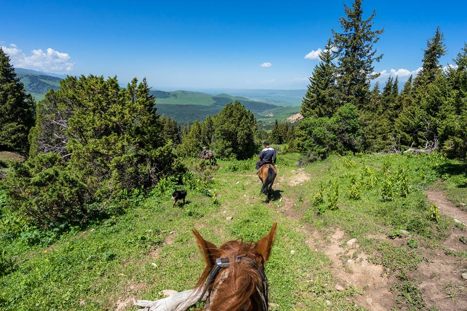 During a horse trek through the mountains in Jyrgalan Valley