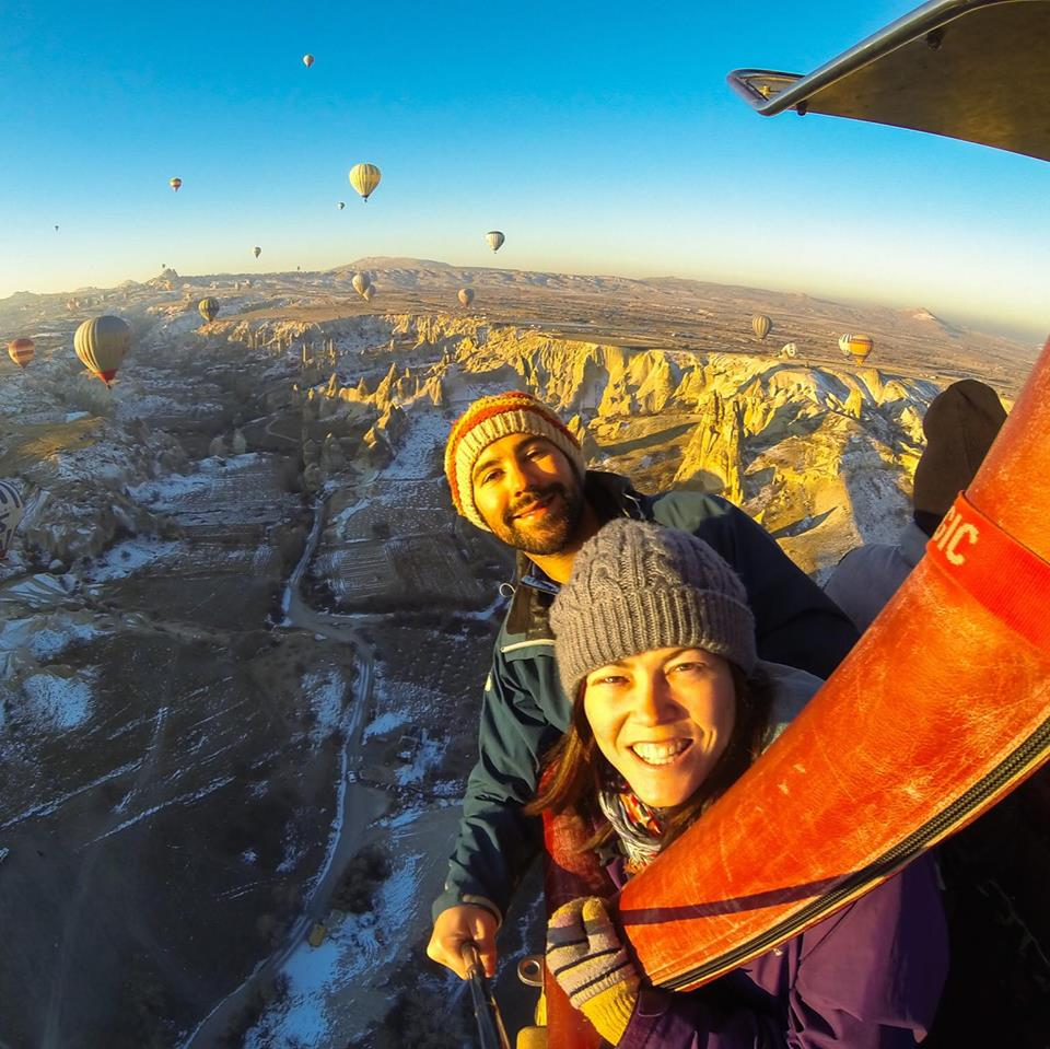 Alesha and Jarryd in Cappadocia, Turkey