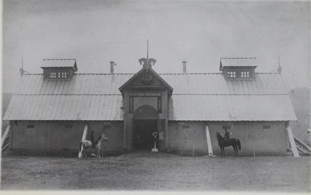 The horse farm founded in 1911 by Captain Vladimir Panovsky, 1914.
